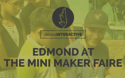 Edmond at the Mini Maker Faire