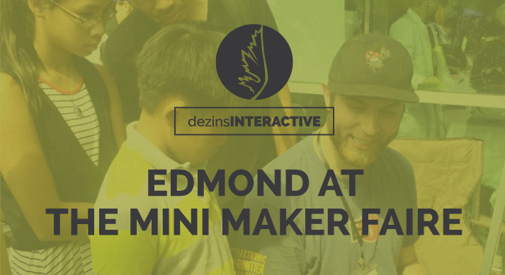 Edmond at the Mini Maker Faire