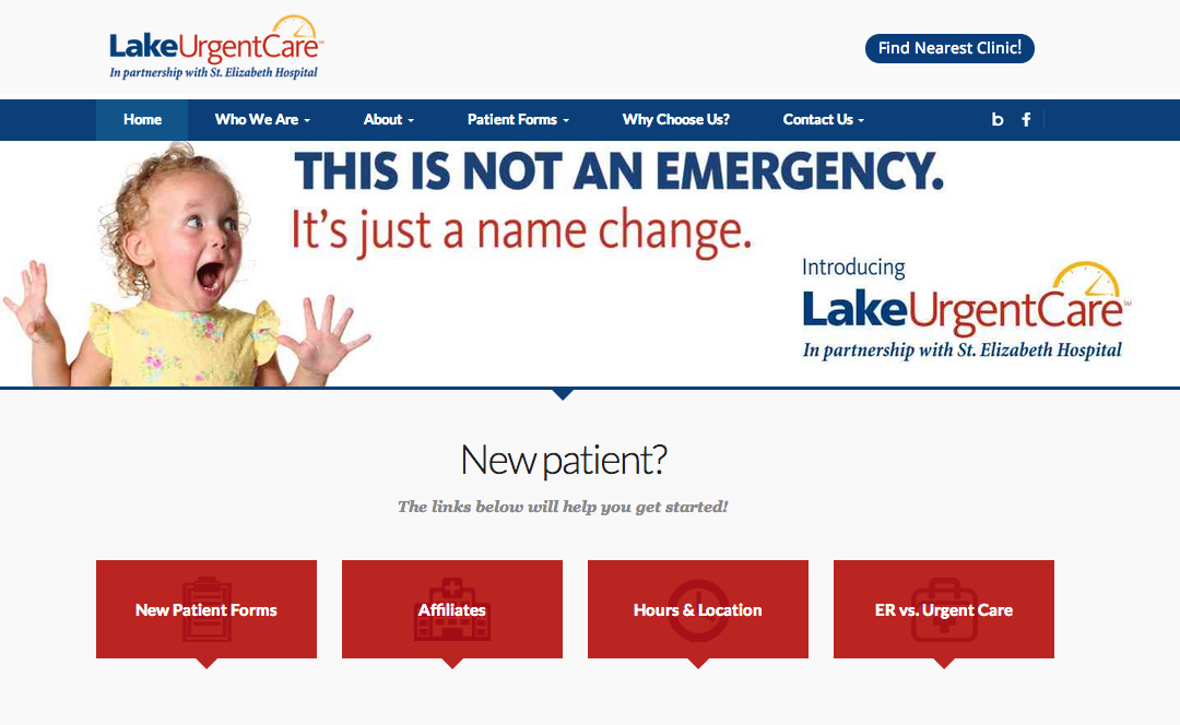 Lake Urgent Care Launches New Website