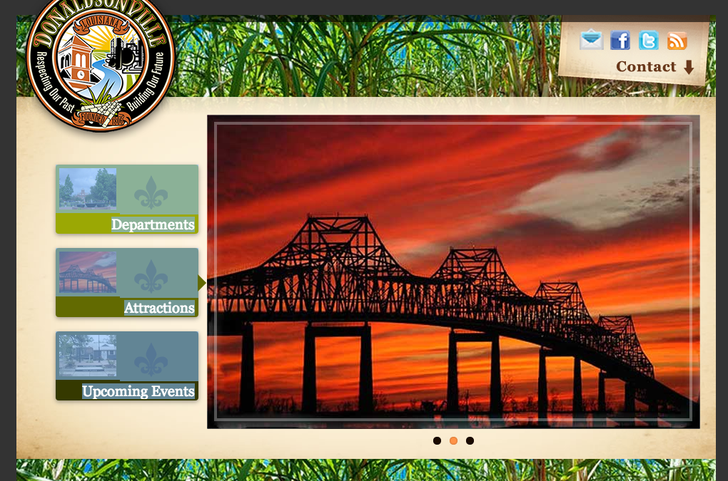 Donaldsonville launches new site, logo, city slogan