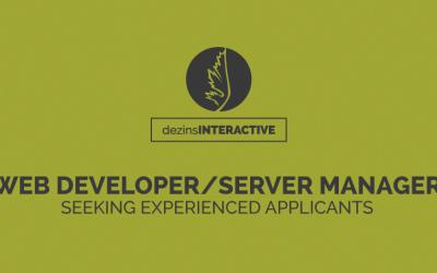 Web Developer/ Server Manager