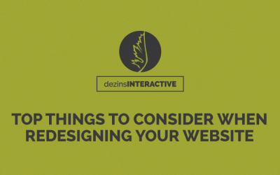 Top Things To Consider When Redesigning Your Website