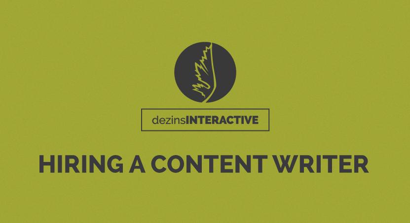 Hiring a Content Writer