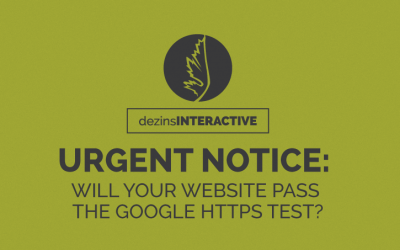 URGENT NOTICE: WILL YOUR WEBSITE PASS THE GOOGLE HTTPS TEST?