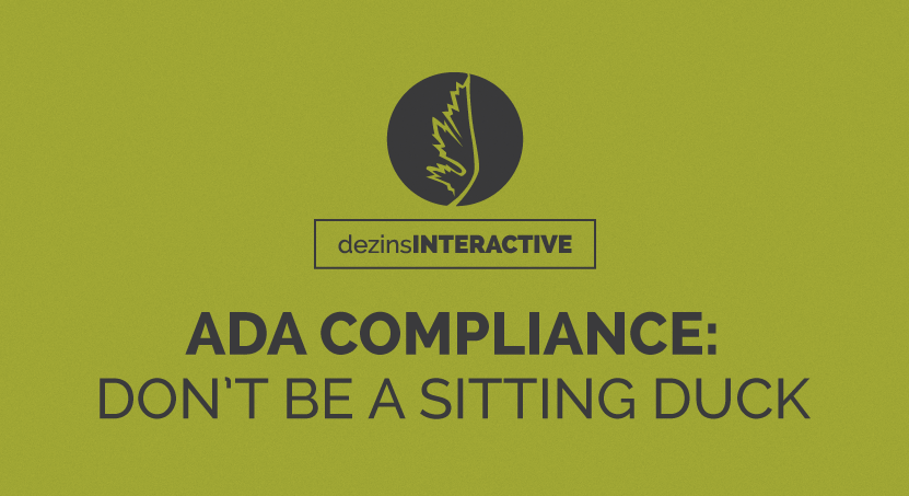 ADA Compliance: Don't be a sitting duck